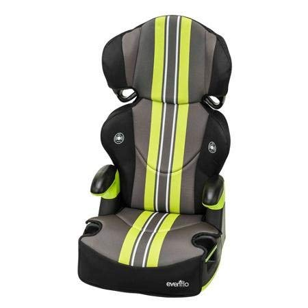 Evenflo Big Kid Sport High Back Booster Car Seat, Grand Prix Racing Stripes