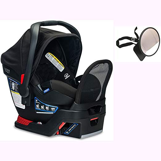 Britax Endeavours Infant Car Seat with Back Seat Mirror - Circa