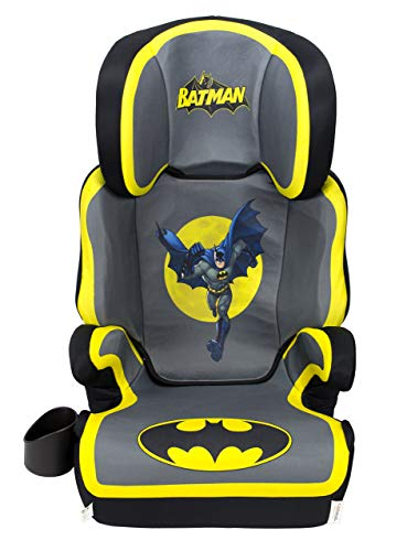 KidsEmbrace Batman Car Seat Booster, DC Comics High Back Seat, Removable Back, Gray