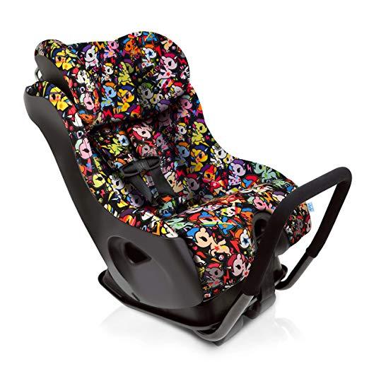 Clek Fllo Convertible Baby and Toddler Car Seat Rear and Forward Facing with Anti Rebound Bar, tokidoki Unicorno Disco 2018