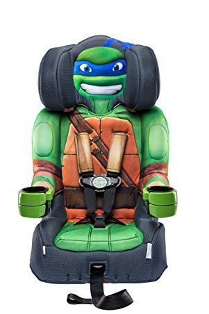KidsEmbrace Nickelodeon Booster Car Seat, Teenage Mutant Ninja Turtles Leo Combination Seat, 5 Point Harness, Green