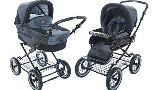 Baby Stroller for Infant Newborn and Toddler Roan Rocco Classic Pram Stroller 2-in-1 with Bassinet separate Seat & big air-inflated wheels – Graphite Review