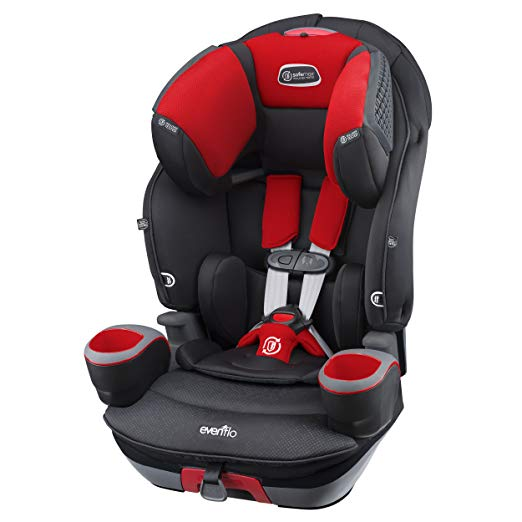 Evenflo SafeMax 3-in-1 Combination Booster Seat, Crimson