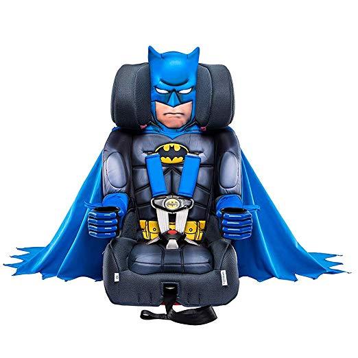 KidsEmbrace Batman Booster Car Seat, DC Comics Combination Seat, 5 Point Harness with Cape, Blue