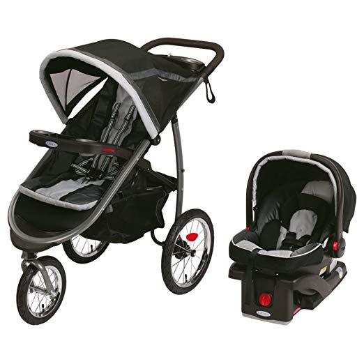 Graco FastAction Fold Jogger Click Connect Travel System, Gotham (Discontinued by Manufacturer)
