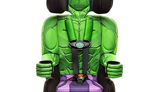 KidsEmbrace Incredible Hulk Booster Car Seat, Marvel Avengers Combination Seat, 5 Point Harness, Green Review