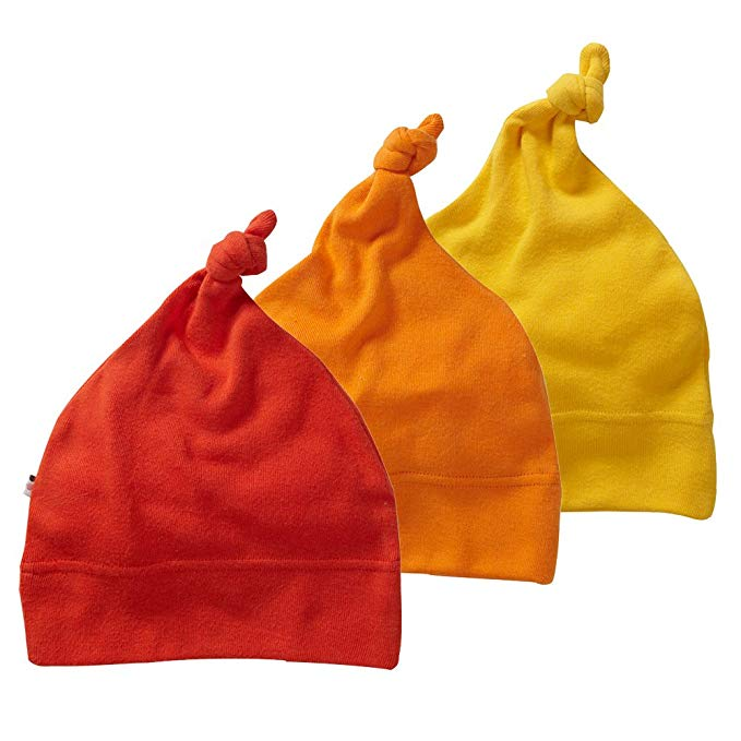 Babysoy Eco Essential 3-Piece Single Knot Beanie/Hat Set