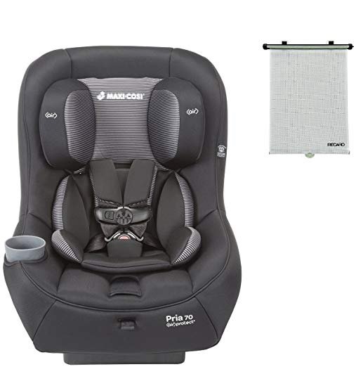 2015 Maxi-Cosi Pria 70 Convertible Car Seat, Black Gravel with BONUS Retractable Window Sun Shade