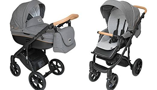 ROAN BASS Soft Stroller 2-in-1 with Bassinet for Baby, Toddler's Five Point Safety Reversible Seat, Swivel Air-Inflated Wheels, Unique Shock Absorbing System and Great Storage Basket (Black Cognac) Review