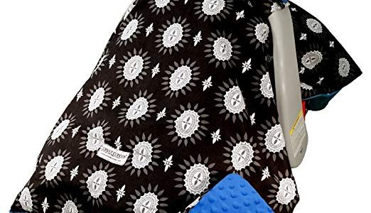 Mothers Lounge Carseat Canopy Maddox Minky Plush Dot Review