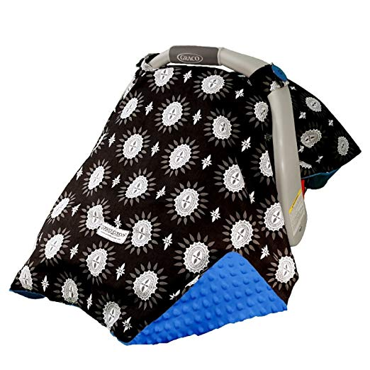 Mothers Lounge Carseat Canopy Maddox Minky Plush Dot