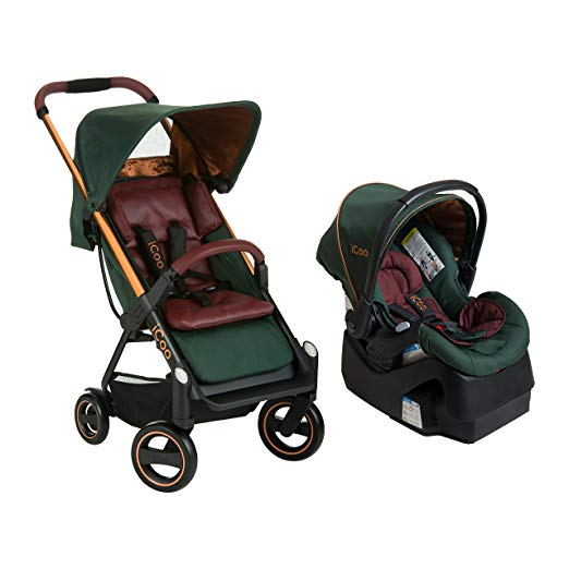 Acrobat Stroller and iGuard35 Travel System Copper Green