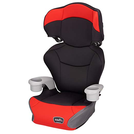 Evenflo Big Kid AMP High Back Booster Car Seat, Cardinal Red