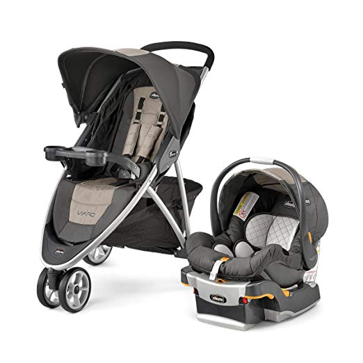 Chicco Viaro Quick-Fold Travel System, Teak