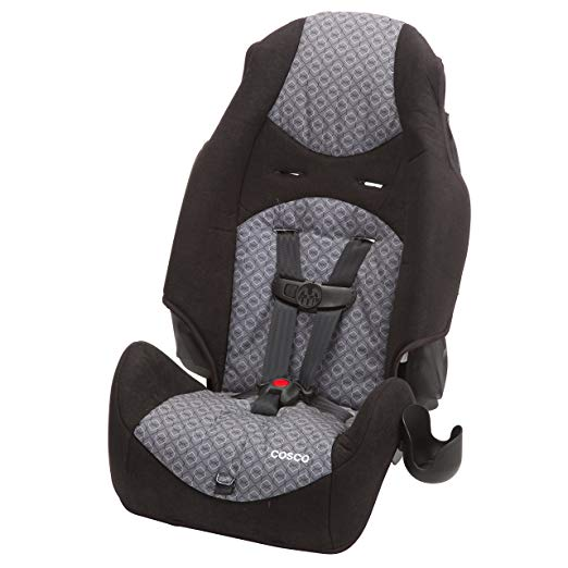 Cosco - Highback 2-in-1 Booster Car Seat - 5-Point Harness or Belt-positioning - Machine Washable Fabric, Cam