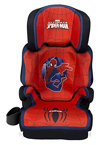 KidsEmbrace Spider-Man Car Seat Booster, Marvel Combination High Back Seat, Removal Back, Red